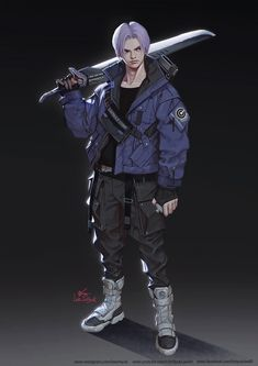 Comic Manga, Anime Comics, Mode Cyberpunk, Fanart, Cyberpunk Character, Naruto Art, Character Design Inspiration, Dbz, Anime Guys