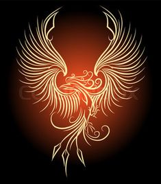"""Buy the royalty-free Stock vector """"Illustration of flying Phoenix Bird as symbol of revival."""" online ✓ All rights included ✓ High resolution vector file. Phoenix Drawing, Phoenix Art, Phoenix Force, Phoenix Bird Tattoos, Phoenix Tattoo Design, Phoenix Vector, Symbols Of Strength Tattoos, Phoenix Images, Pinstriping Designs"""