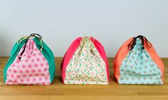 Drawstring Ditty Bag - free sewing pattern — SewCanShe | Free Sewing Patterns and Tutorials