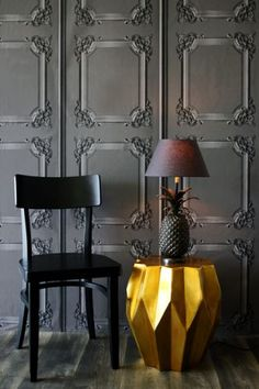 Classical Louis XV Panelling Wallpaper Grey - Koziel