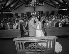 The First Kiss! http://storytotell.me/blog/mr-mrs-ault/ Wedding Photography