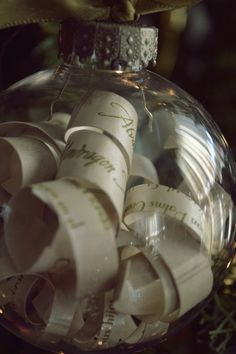 Wedding Invitation Ornament   What A Great Idea As A DIY Gift For  Newlyweds! Simple