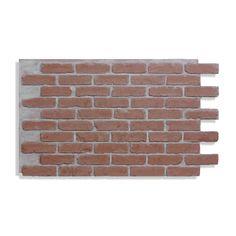 Brick Veneer Panels, Faux Brick Wall Panels, Brick Wall Paneling, Brick Siding, Faux Panels, Brick Walls, Types Of Bricks, Red Bricks, Brick Porch