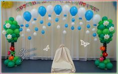 Balloon Tree, Balloon Wall, Balloon Flowers, Balloon Garland, Birthday Decorations At Home, Birthday Balloon Decorations, Naming Ceremony Decoration, Balloons And More, Balloon Columns