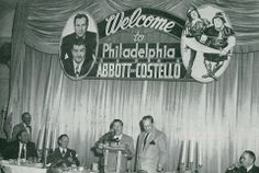 "Abbott & Costello in town promoting ""Jack and the Beanstalk"" - 1952"