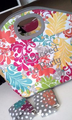 One of our BRAND NEW Thirty-One Spring Hostess Exclusive Items in a new print! (Comes with FREE embroidery if you host a party!)