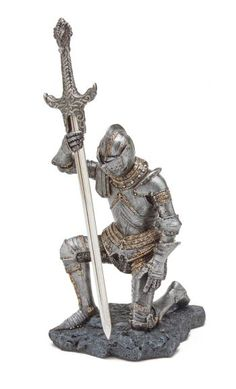 Kneeling Knight With Sword Medievel