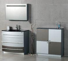 Metallic Accent Designer Bathroom Design
