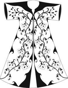 Sewing Clothes, Diy Clothes, Kaftan Abaya, Traditional Fashion, Edwardian Fashion, Folk Costume, Islamic Art, Blouse Designs, Embroidery Patterns