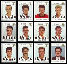 St Mirren team strickers in Paisley Scotland, Football Stickers, World History, 1980s, Saints, Soccer, Sport, Logos, Trading Cards