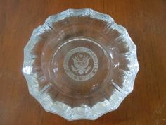 Vintage United States Senate Glass Ashtray by panther85 on Etsy, $13.00
