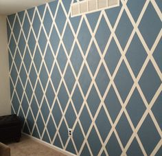 Diamond Accent Wall 2019 Diamond Accent Wall The post Diamond Accent Wall 2019 appeared first on Nursery Diy. Accent Wall Designs, Bedroom Wall Designs, Accent Wall Bedroom, Diy Wand, Striped Accent Walls, Chevron Walls, Wall Stripes, Geometric Wall Paint, Wall Paint Patterns