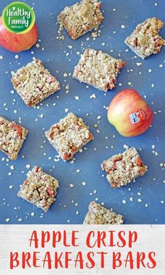 Take your breakfast on-the-go with these Apple Crisp Breakfast Bars. Just layer your ingredients and bake for a healthy, delicious way to start the day. Perfect for a make-ahead breakfast, grab and go snack or even as dessert! Recipe modifications included to make gluten-free, vegan or dairy-free. Breakfast Bars Healthy, Breakfast On The Go, Make Ahead Breakfast, Breakfast Items, Recipe Modifications, Freezable Meals, Dairy Free, Gluten Free, Healthy Appetizers