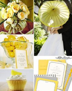 Yellow-and-grey Wedding Theme. I like!