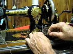 How to thread a Singer long bobbin sewing machine - YouTube