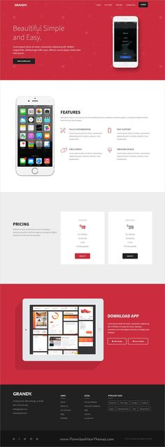 Grandy is clean and modern design multipurpose responsive #bootstrap template for #app #landingpage website with 15 niche homepage layouts download now..