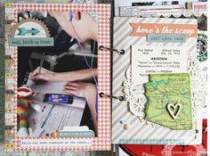 travel memories mini book designed by Julie Jacob for Teresa Collins - 1