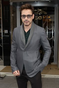 "Robert Downey Jr. in London, April 18, 2013, for the ""Iron Man 3"" international press tour."