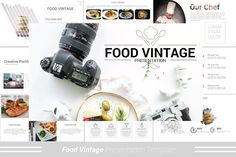 Food Vintage Powerpoint Template - Presentations - 1