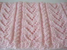 Hand Knitted Pink Baby Blanket Baby Girl Pink by AfghansForBabies, $50.00