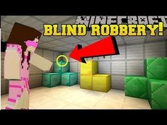 PopularMMOs Minecraft: ROBBING A BANK BLINDFOLDED!!! - Mystery Button - ...