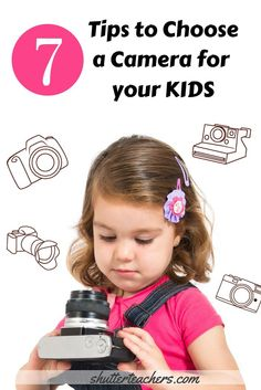 Looking for a camera for your little one?  Here are 7 tips when choosing a first camera for your child.  http://shutterteachers.myshopify.com/blogs/blog/15145205-how-to-choose-a-camera-for-your-kids