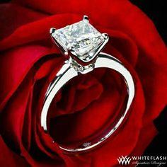 perfect princess cut engagement ring