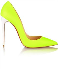 Christian Louboutin So Kate 120 neon leather pumps