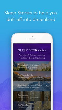 Sleep meditations from the Calm App (affiliate link)