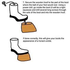 Hoof Boots Tutorial --kinky! :-) great for any time I want to play a centaur or satyr.