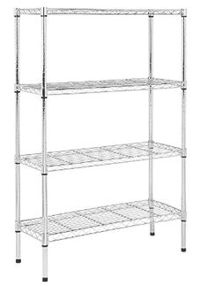 AmazonBasics 4-Shelf Shelving Unit Shoe Storage Cabinet, Storage Shelves, Storage Cabinets, Shelving, Microwave Cabinet, Utility Shelves, Organizing Wires, Storage Solutions, Wardrobe Rack
