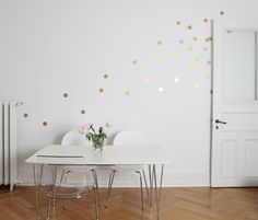 Wall Decal - Wall Decal Wall stickers / Dots / Gold / 15er - a designer piece of owls section on DaWanda