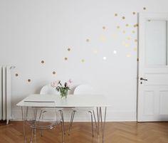 Wandtattoo - Wandtattoo Wandsticker / Dots Punkte / Gold - ein Designerstück von Eulenschnitt bei DaWanda