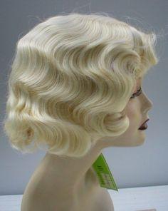 FINGERWAVE Wig .. New!  Pale Blonde - Theatre. Rose Wig .. BEST SELLER!  #FullWig