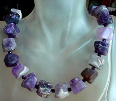 Purple Frosted Amethyst Made From Irregular Nuggets by camexinc