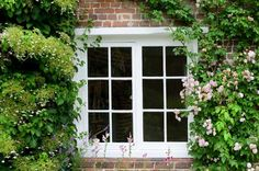 Blooms at the Window - Jane Austen's Home in Chawton. #reading, #books, #austen