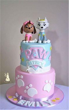 Paw Patrol Sky Cake, Girls Paw Patrol Cake, Paw Patrol Torte, Girl Paw Patrol Party, Paw Patrol Birthday Theme, Paw Patrol Skye, Paw Patrol Everest, Cake Disney, Bolo Fack