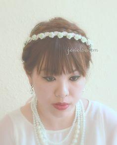 Mint Green Rose Crown Bridal Hair Wreath Woodland Floral Headband Wedding Romantic Spring Summer Festival Crochet Lace Hairband Rustic H1