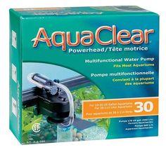 BOMBA SUMERGIBLE AQUACLERA 30 - #FaunAnimal Es una bomba multifuncional que ofrece un rendimiento excepcional en una variedad de aplicaciones.  Se maneja de manera eficiente filtro de fondo, circula y se oxigena el agua del acuario