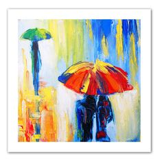 'Downpour' by Susi Franco Painting Print on Canvas