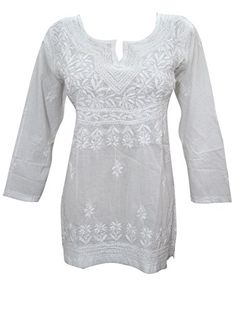 Women's White Tops Floral Embroidered Bohemain Peasant Summer Blouse Mogul Interior http://www.amazon.com/dp/B013OWPWQW/ref=cm_sw_r_pi_dp_2sbMwb0R672RB