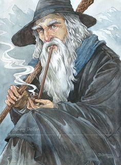 Gandalf the Grey by Gold-Seven * Lord of the Rings * The Hobbitt * Fantasy Myth Mythical Mystical Legend Elf Elves Sword Sorcery Magic Witch Wizard Sorceress Hobbit Art, O Hobbit, Jrr Tolkien, Fanart, Desenho Tattoo, Middle Earth, Lord Of The Rings, Lotr, Elves