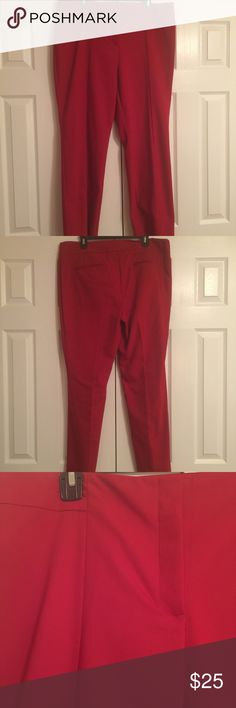 """Chicos brand pants Red Chicos """"So Slimming"""" pants in a size 3 (16) and brand new with tags from a smoke free and dog friendly home. Perfect for the holidays!  I bundle and ship quickly! Chico's Pants Straight Leg"""