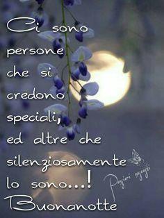Ci sono persone che si credono speciali, ed altre che... One Day Quotes, Italian Greetings, Son Luna, Amazing Quotes, Picture Quotes, Good Night, Persona, Instagram, Jim Morrison