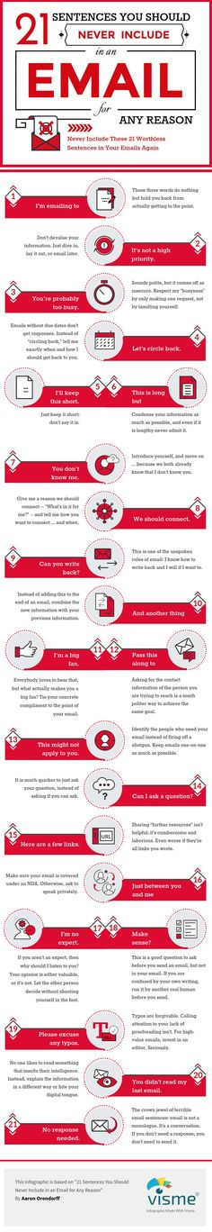 21 Sentences You Should Never Include in an Email for Any Reason [Infographic]   Social Media Today