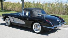 1959 Black Corvette Fuel Injection - Restored