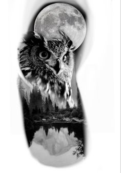 Watch Tattoos, Time Tattoos, Body Art Tattoos, Tattoos For Guys, Sleeve Tattoos, Left Arm Tattoos, Tribal Arm Tattoos, Wolf Girl Tattoos, Realistic Owl Tattoo