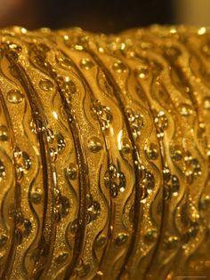 Bangles found in the Dubai Gold Souk