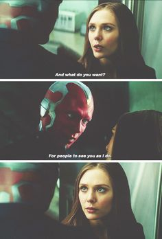Wanda and Vision. I absolutely love this moment, because no matter what happens in the rest of the movie, you know these two have something special.