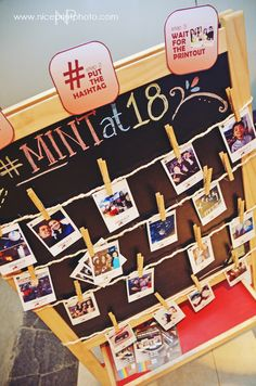 Use a hashtag to corral all your guests' photos. Give them a print out as keepsake. | www.mydebut.ph